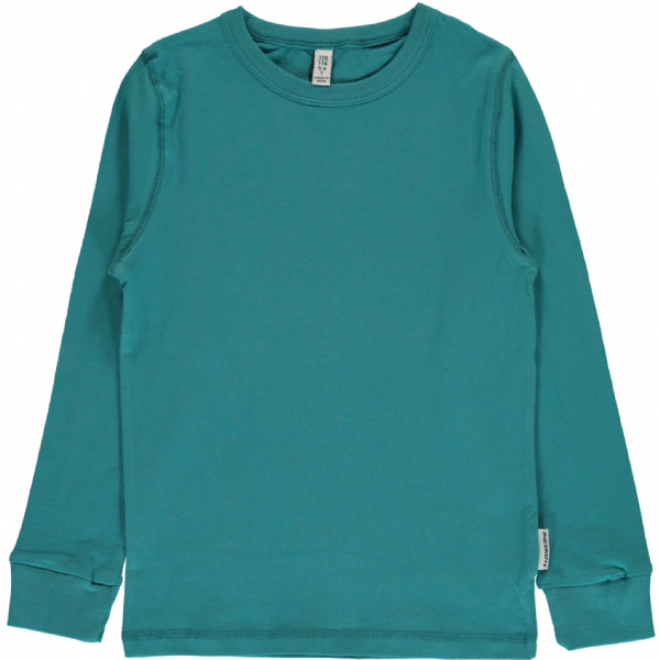Maxomorra Long Sleeve Top Soft Petrol